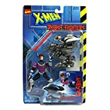 Marvel Comics Year 1997 X-Men Robot Fighters 4-1/2 Inch Tall Action Figure - Gambit Plus Robot Drone with Projectile Missile