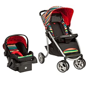 Safety 1st Sleekride LX Travel System, London Stripe