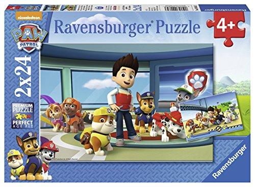 Patrulla Canina - Puzzle doble, 24 piezas (Ravensburger 09085 3)