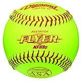 Diamond 12-Inch Leather Cover Fastpitch Softball, Cork Core, ASA Stamped, Dozen by Diamond Sports