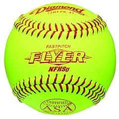 Buy Diamond 12-Inch Leather Cover Fastpitch Softball, Cork Core, ASA Stamped, Dozen by Diamond Sports