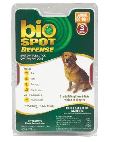 Bio Spot Defense Spot on Flea and Tick Dogs 56-80-Pound,