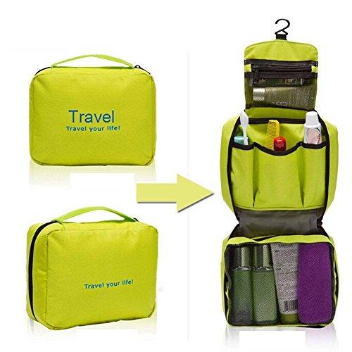 Ducomi® Travel Life! Beauty Case - Borsa da Viaggio - Organizzatore Viaggio Unisex - Misura Aperto: 22 x 61 cm (Green)