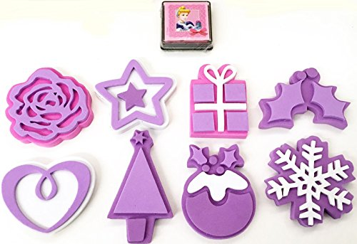disney-princess-8-foam-stamp-stamping-stamper-with-ink-pad-set-christmas-party-bag-stocking-filler-x