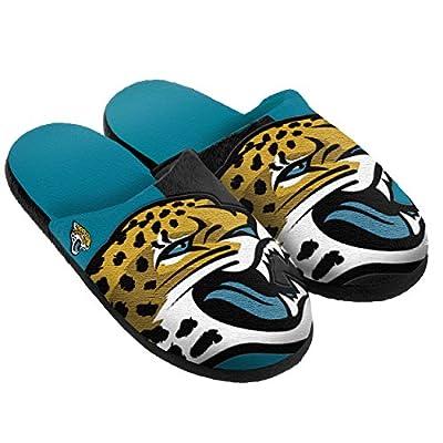 NFL Jacksonville Jaguars Split Color Slide Slipper, X-Large, Green