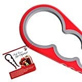Chef Remi Jar Opener - Award Winning Kitchen Tool To Remove Stubborn Lids, Caps and Bottles - Designed For Small Hands, Seniors or Anyone Who Suffers From Arthritis - Lifetime Guarantee