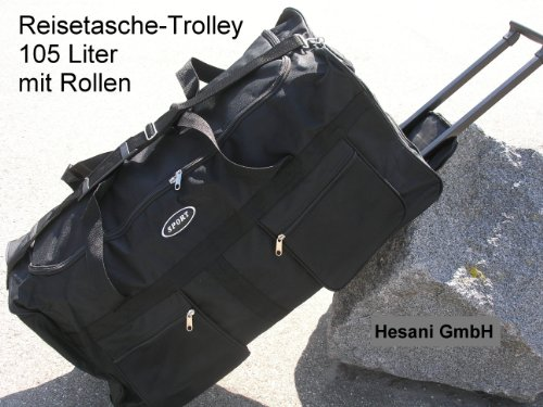 Reisetasche 105 L schwarz Tasche Trolley Reisetrolley