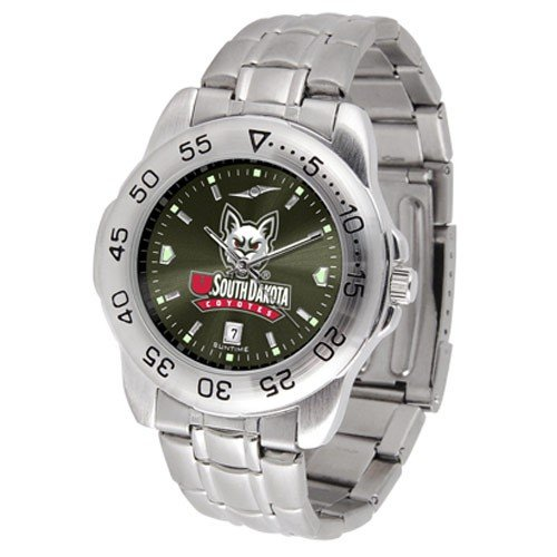 South Dakota Coyotes Men&#8217;s Game Day Sport Metal AnoChrome Watch