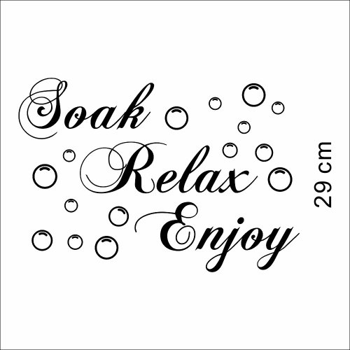 Apexshell (Tm) Soak Relax Enjoy Decor Art Stickers Removable Decorate Decal Home Decor For Home, Living Room, For Bedroom front-138346