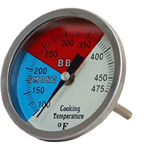 3 Inch Large Smoker Thermometer by Jumbl