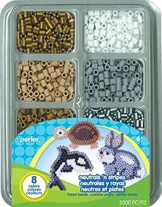 Perler Beads Neutrals n Stripes Mini Bead Tray