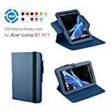 Exact (TM) 360 degree Rotary case for Acer Iconia B1-A71 7-Inch Android Tablet Blue