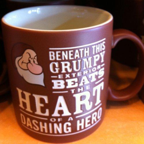 Disney Park Grumpy Dashing Hero Ceramic Mug NEW