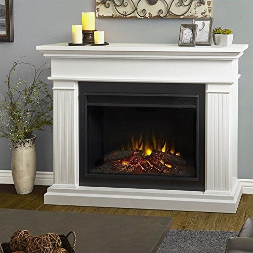 Real Flame 8070E-W Kennedy Grand Electric Fireplace, Large, White (Real Flame Fireplace compare prices)