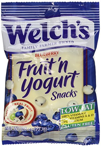 Welch's Blueberry Fruit'n Yogurt Snacks,2-Pack, 16-0.8oz pouches (Fruit And Yogurt Snacks compare prices)
