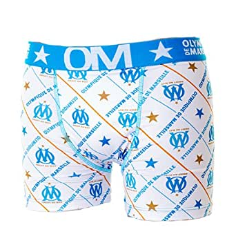 Boxer OM - Freegun - Collection officielle OLYMPIQUE DE MARSEILLE - Football club Ligue 1 - Sous vêtement taille adulte homme M