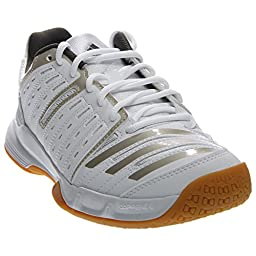adidas Performance Women\'s Essence 12 W Volleyball Shoe, White/Grey/Grey, 7 M US