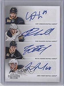 Chad Ruhwedel, Cory Conacher, Jamie Tardif, Nikita Zadorov Buffalo Sabres (Hockey Card) 2013-14 Panini Playoff Contenders Contenders Fours #C4-BUF