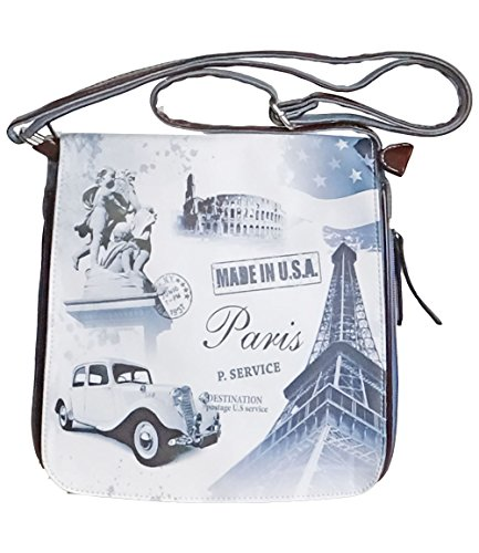 angesagte kultige Jeans-Tasche Teenager Umhaengetasche Eiffelturm, Paris thumbnail