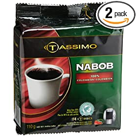 Nabob 100% Colombian Coffee, 14-Count T-Discs for Tassimo Coffeemakers (Pack of 2) [Amazon Frustration-Free Packaging]