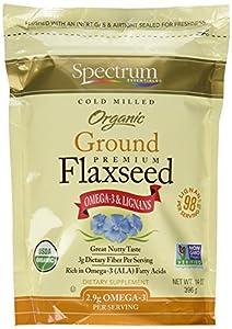Spectrum Essentials Organic Ground Essential Flaxseed 14 oz. (Pack of 3)