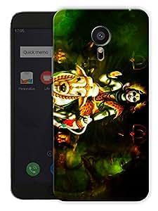 "Humor Gang Shiva Calm - Hindu God Printed Designer Mobile Back Cover For ""Meizu Mx5"" (3D, Matte, Premium Quality Snap On Case)"