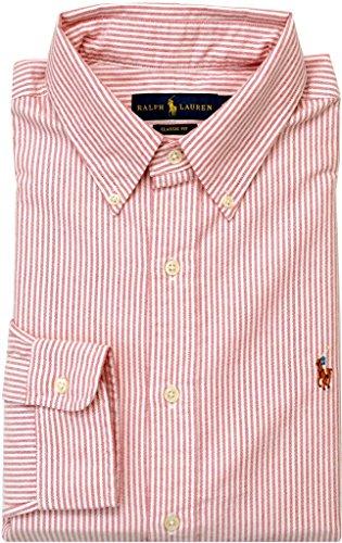 Polo Ralph Lauren Men'S Classic-Fit Striped Oxford , Red, Xxl
