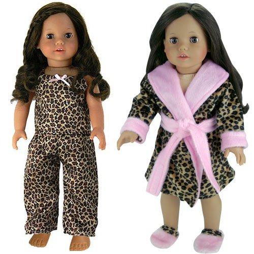 Leopard Kitty 2 Pc Pants Set Fits 18 inch American Girl Dolls