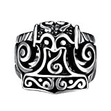 Focus Jewel Men's Fleur De Lis Bicycle Gothic Knight Demon Witch Face Mask Eyes Ring Size US 8