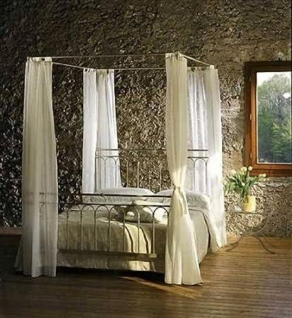 Rosso di Sera Himmelbett Toscana Metall Bett 120 x 200