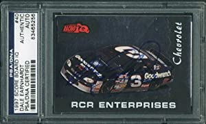 DALE EARNHARDT AUTHENTIC SIGNED CARD 1997 SCORE BOARD IQ #40 PSA DNA SLABBED by Press Pass Collectibles