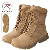Mens Boots - Tactical Forced Entry Side Zipper, Desert Tan, 9 Wide by Rothco