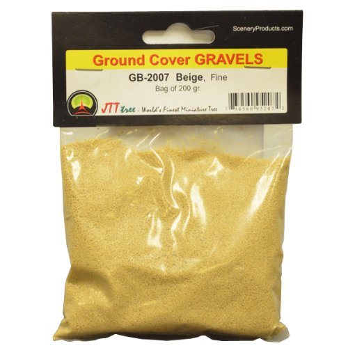 JTT Scenery Products Ballast and Gravel, Beige, Fine/200gm - 1