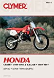 Honda CR80R and CR125R, 1989-1996: Clymer Workshop Manual