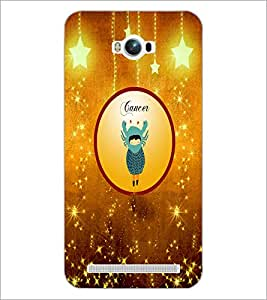 PrintDhaba Zodiac Cancer D-3665 Back Case Cover for ASUS ZENFONE MAX ZC550KL (Multi-Coloured)