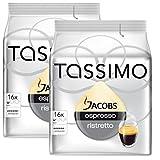 Bosch Tassimo 'Jacobs Espresso Ristretto' 16 T Disc Coffee Machine Capsules (Pack of 2)