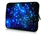 13 Inch Incessant Universe With Twinkling Blue Stars Clone Sided Print Design Laptop Slipcase Bag Netbook Sleeve Offset Notebook Carrying Case for Macbook Air Macbook Pro Acer Asus Dell HP Sony Toshiba