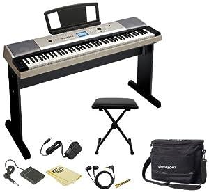 Yamaha ypg 535 88 key portable grand piano keyboard car for Yamaha ypg 535 weighted keys