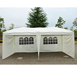 Outsunny 10' X 20' Easy Pop Up Canopy Party Tent Cream