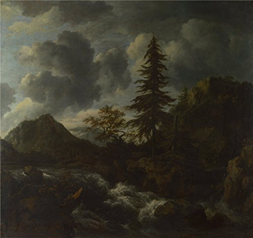 The Perfect Effect Canvas Of Oil Painting 'Jacob Van Ruisdael A Torrent In A Mountainous Landscape ' ,size: 16 X 17 Inch / 41 X 43 Cm ,this Amazing Art Decorative Canvas Prints Is Fit For Gym Decor And Home Decor And Gifts (Kickass Torrent compare prices)