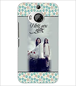 PrintDhaba Quote D-4665 Back Case Cover for HTC ONE M9 PLUS (Multi-Coloured)