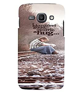 PRINTVISA Quotes Feel Good Case Cover for Samsung Galaxy Core I8260