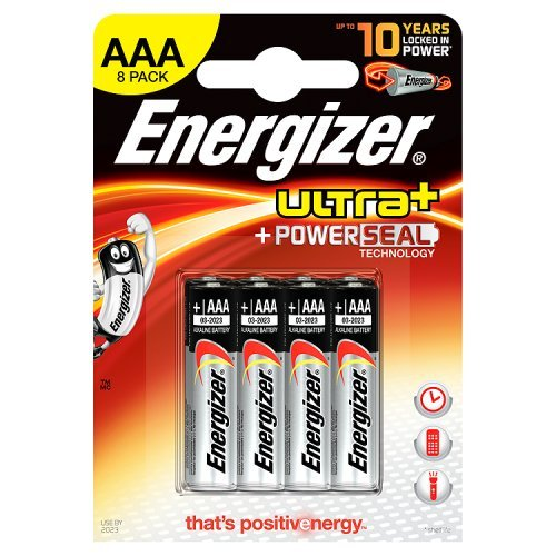 Energizer - Pile Alcaline - AAA x 8 - Ultra+ (LR03)