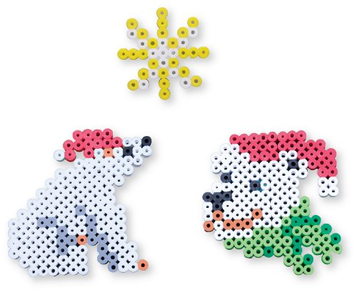 Perler Beads Biggie Bead Fused Bead Kit, Santa Polar Bear - 1