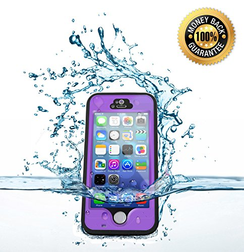 Iphone 5S Waterproof Cell Protective Case, Best Mobile Hard Skin Protection Covers, Compare To Lifeproof Defender Cases Cover For Apple, Att, Verizon Wireless, Virgin & Sprint Phones. Buy Now To Protect & Defend Your Investment! (Purple)
