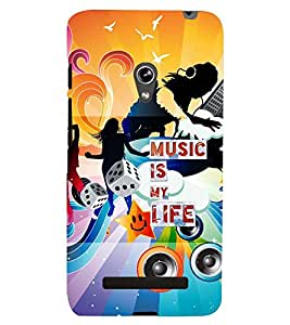 PRINTSWAG MUSIC QUOTE Designer Back Cover Case for ASUS ZENFONE 5 A501CG
