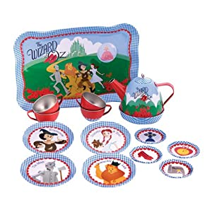 Schylling Wizard of Oz Musical Tin Tea Set