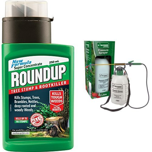 roundup-tree-stump-and-rootkiller-bottle-250-ml-5l-pump-action-pressure-sprayer-use-with-water-ferti