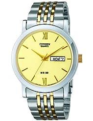 Citizen Analog Beige Dial Men's Watch BK4050-89P
