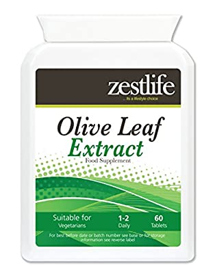 Zestlife OLIVE LEAF EXTRACT High Strength - 60 caps | Premium GMP Supplement | Protecting the body from viruses | Bacteria or retroviruses | Treating existing viruses including herpes and shingles and Improves circulation by Zestlife